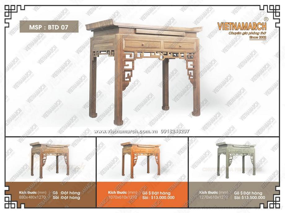mẫu bàn thờ đứng giá rẻ nhất Hà nội - báo giá chuẩn nhất