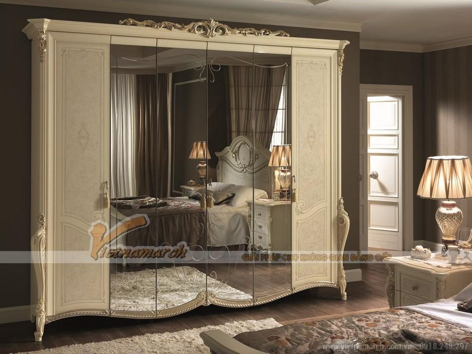 Bộ sưu tập tủ quần áo cổ điển đẹp nhất hiện nay cho phòng ngủ sang trọng