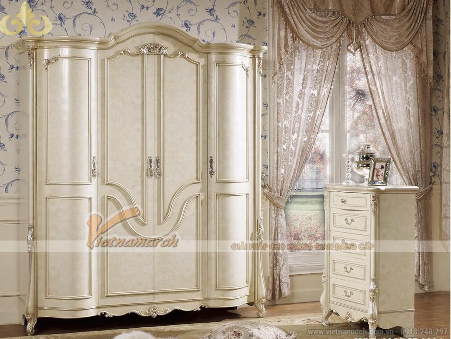 Những mẫu tủ quần áo phong cách tân cổ điển khiến các gia chủ phải lao đao tìm kiếm 03