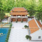 Phương án thiết kế nhà thờ họ 2 tầng anh Đạo ở Bắc Giang