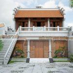 Phương án thiết kế nhà thờ họ 2 tầng của chú Đông ở Ứng Hòa