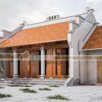 Phương án thiết kế nhà thờ tổ 3 gian 2 mái và nhà ngang để ở tại Hải Phòng