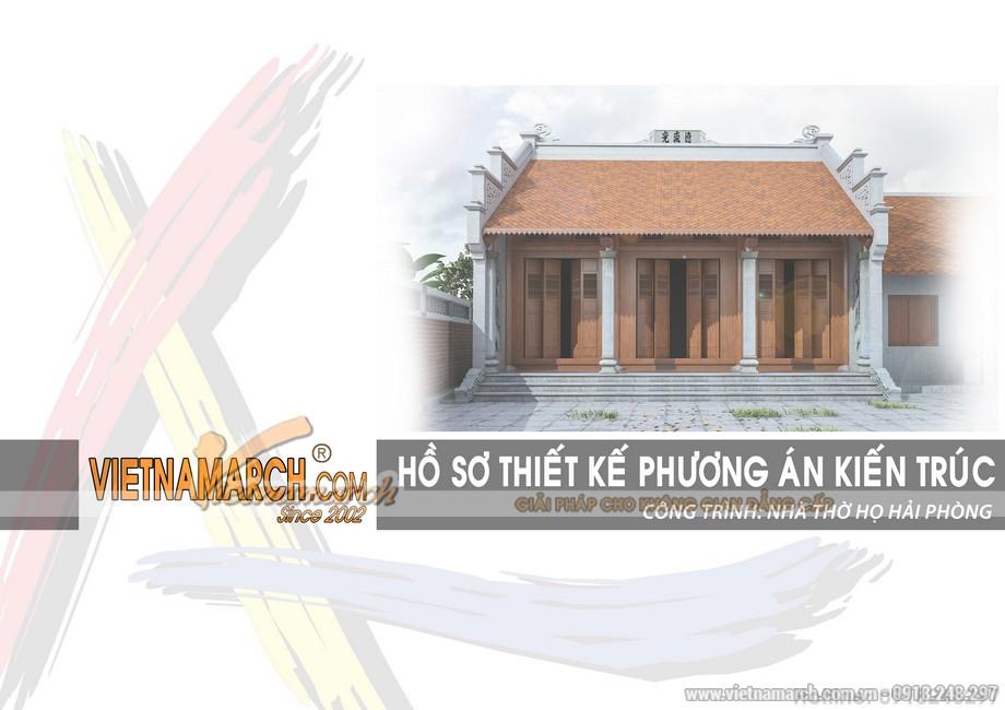 Hồ sơ phương án thiết kế kiến trúc nhà thờ họ tại Hải Phòng