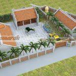 Phương án thiết kế từ đường – nhà tổ nối liền nhà ngang nhà chú Hòa tại Nghệ An