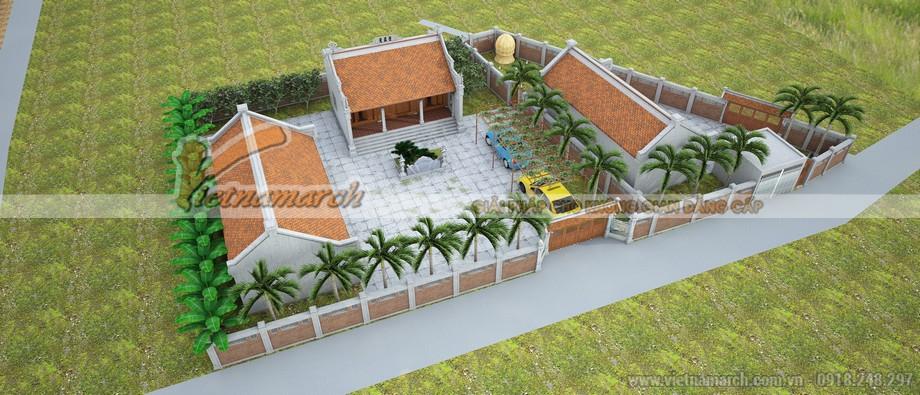 Nhà từ đường 3 gian 2 mái