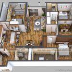 Phương án thiết kế căn 05 Park 7 chung cư Park Hill – Times City
