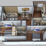 Phương án thiết kế nội thất căn 06 park 5 chung cư Park Hill – Times City