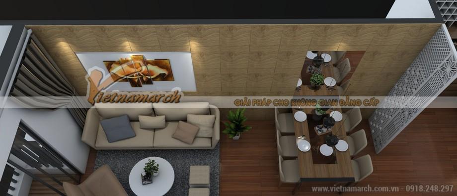 Thiết kế nội thất phòng khách và phòng ăn căn hộ 06 Park 5 Park Hill Times City