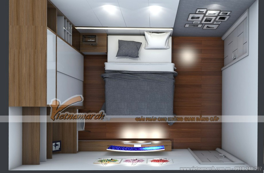 Mặt bằng nội thất phòng ngủ căn hộ 06 Park 5