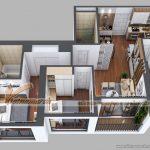 PHƯƠNG ÁN: Thiết kế nội thất căn 07 Park 5 chung cư Park Hill