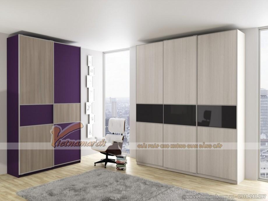 mẫu tủ âm tường, cánh lùa cho không gian phòng ngủ phong cách và ấn tượng 02