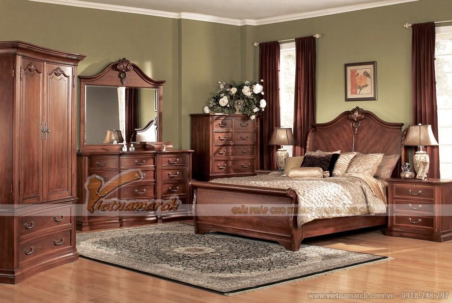 Mẫu tủ quần áo bằng gỗ tự nhiên giúp cho không gian phòng ngủ sang trọng hơn 02