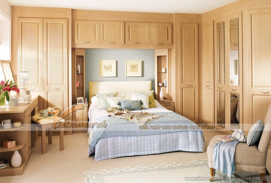 Mẫu tủ quần áo bằng gỗ tự nhiên giúp cho không gian phòng ngủ sang trọng hơn 04