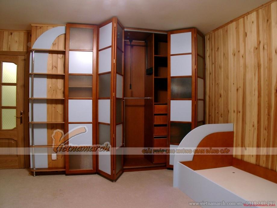Mẫu tủ quần áo bằng gỗ tự nhiên giúp cho không gian phòng ngủ sang trọng hơn 06