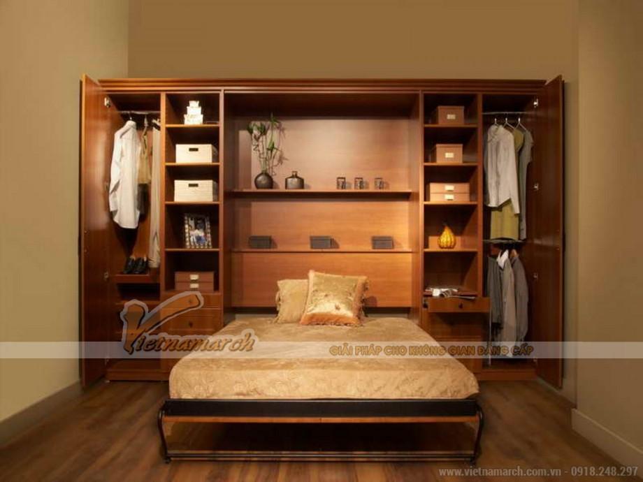 Những mẫu tủ quần áo kết hợp với giường ngủ thông minh sáng tạo