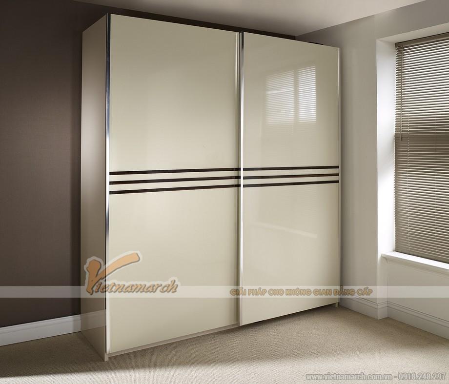 Mẫu tủ quần áo 2 cánh trượt hiện đại nhất hiện nay