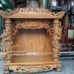 Những mẫu tủ thờ Thần Tài mang lại may mắn, hưng thịnh cho gia chủ