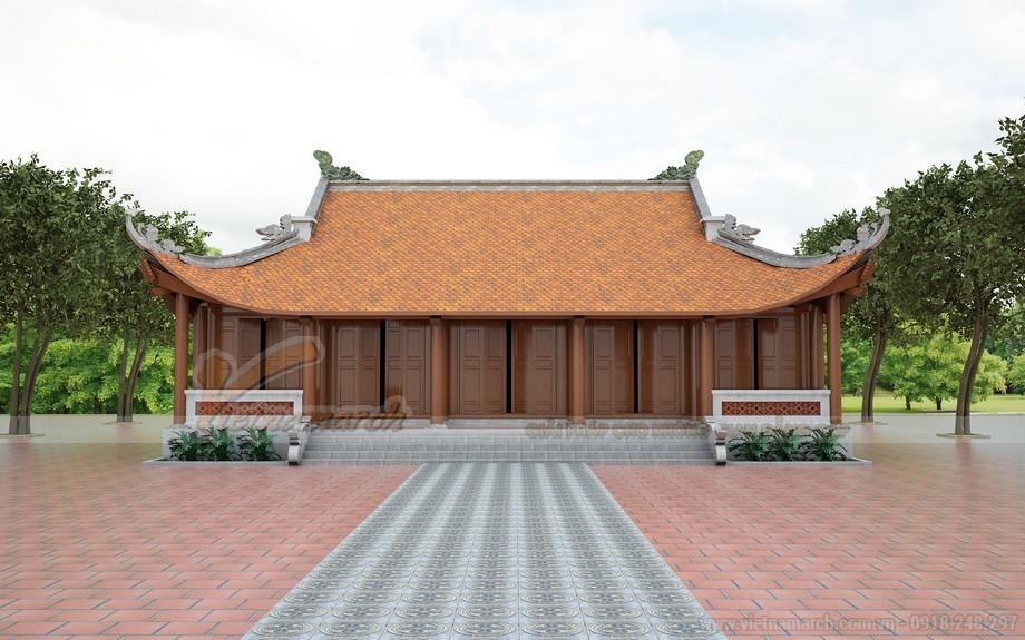 Mặt chính diện của ngôi chùa Phú Thọ