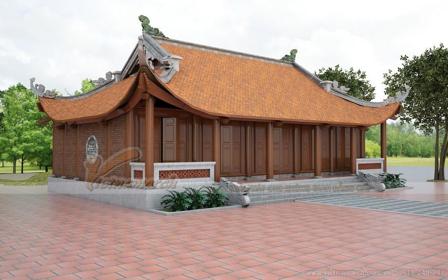 Mẫu mái chùa đơn giản, đẹp tại chùa ở Phú Thọ