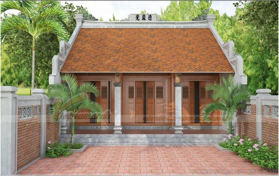 Công trình nhà thờ họ được KTS Vietnamarch thiết kế