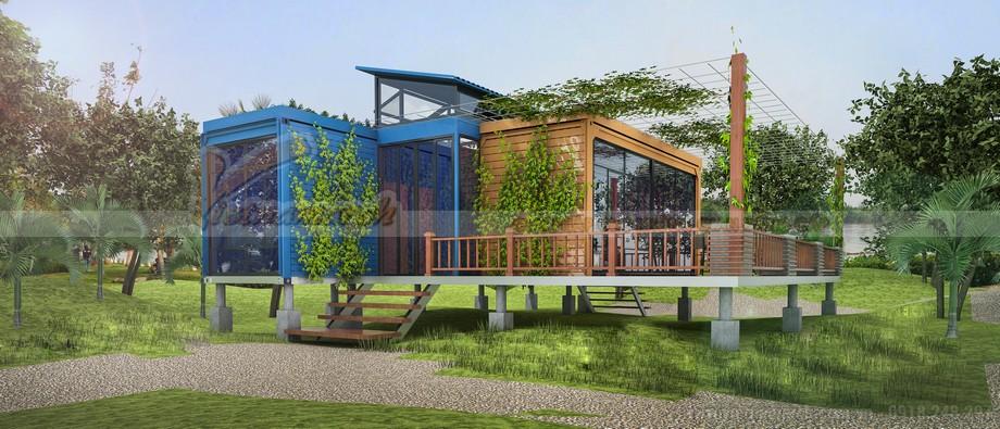 Ngôi nhà container nghỉ dưỡng tại 1 resort