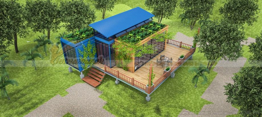 Toàn cảnh ngôi nhà container nghỉ dưỡng
