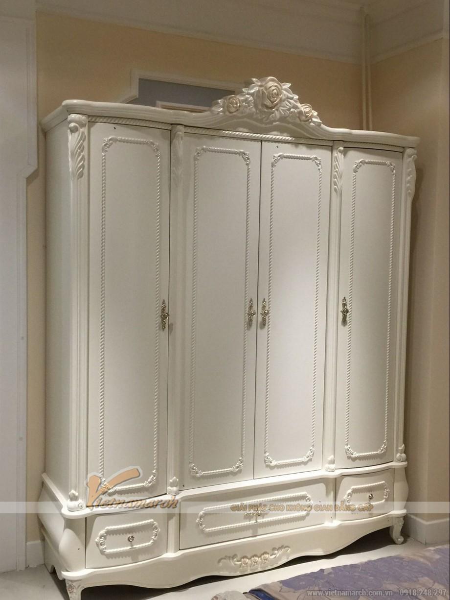 """""""Tinh tế - trang nhã"""" với bộ sưu tập tủ quần áo tone trắng bắt mắt"""