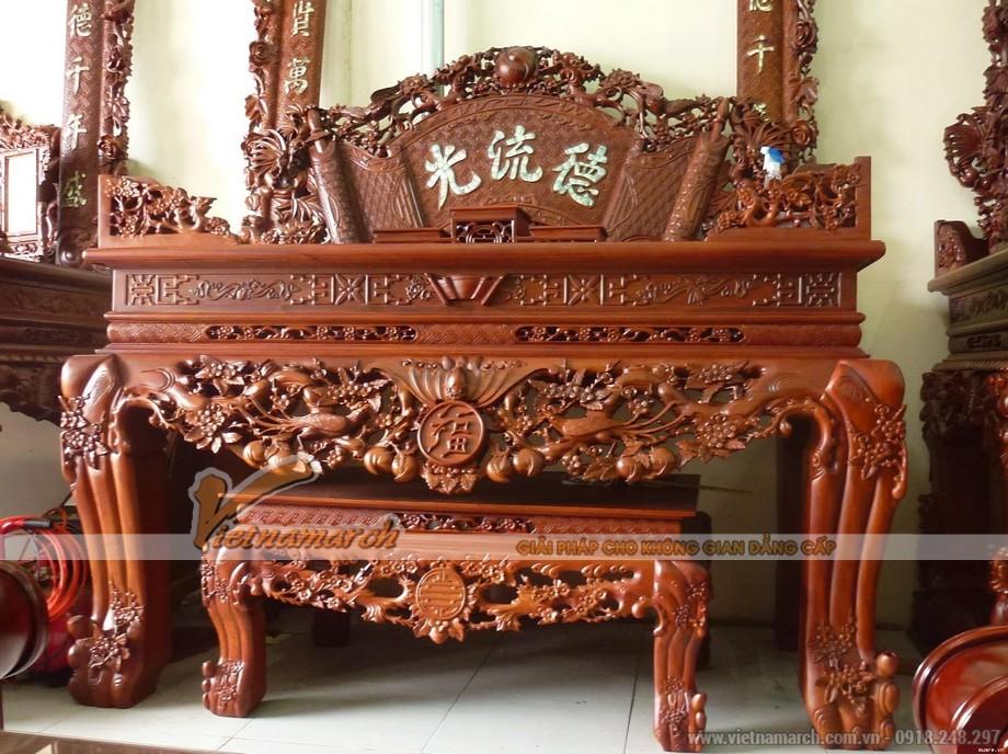 Những mẫu bàn thờ án gian chạm khắc tinh xảo