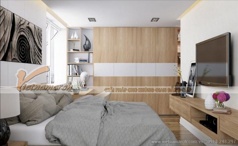 Phối cảnh nội thất phòng ngủ master căn hộ Park 11 Park Hill