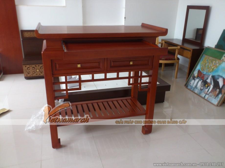 Sử dụng mẫu bàn thờ thiết kế hiện đại, đơn giản cho không gian đẹp