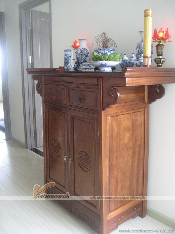 mẫu nội thất phòng thờ đẹp gỗ hương cho nhà lô, nhà ống, nhà phố 4
