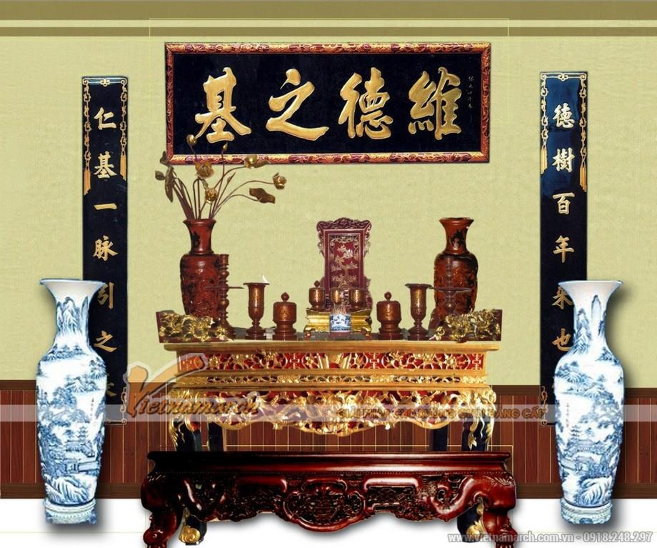 Mẫu bàn thờ truyền thống trang trọng cho mọi gia đình