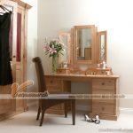MỚI: Mẫu bàn trang điểm hiện đại với chiếc gương xinh xắn có thể đóng lại