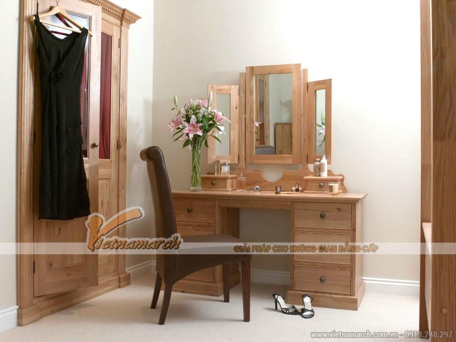 Mới lạ những bàn trang điểm hiện đại với chiếc gương xinh xắn có thể đóng lại