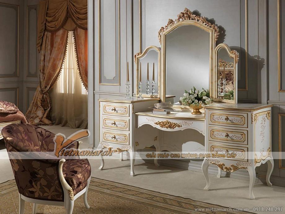 Top những mẫu bàn trang điểm phong cách cổ điển năm 2017