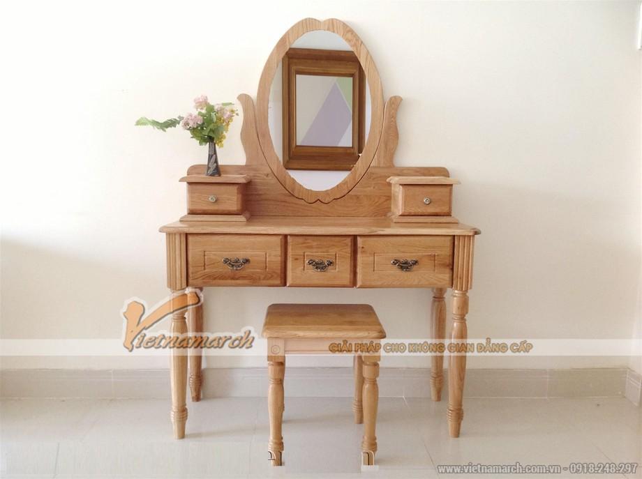 Chiêm ngưỡng mẫu bàn trang điểm bằng gỗ được thiết kế hiện đại