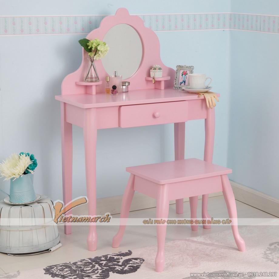 Khám phá mẫu bàn trang điểm màu hồng nữ tính, sang chảnh