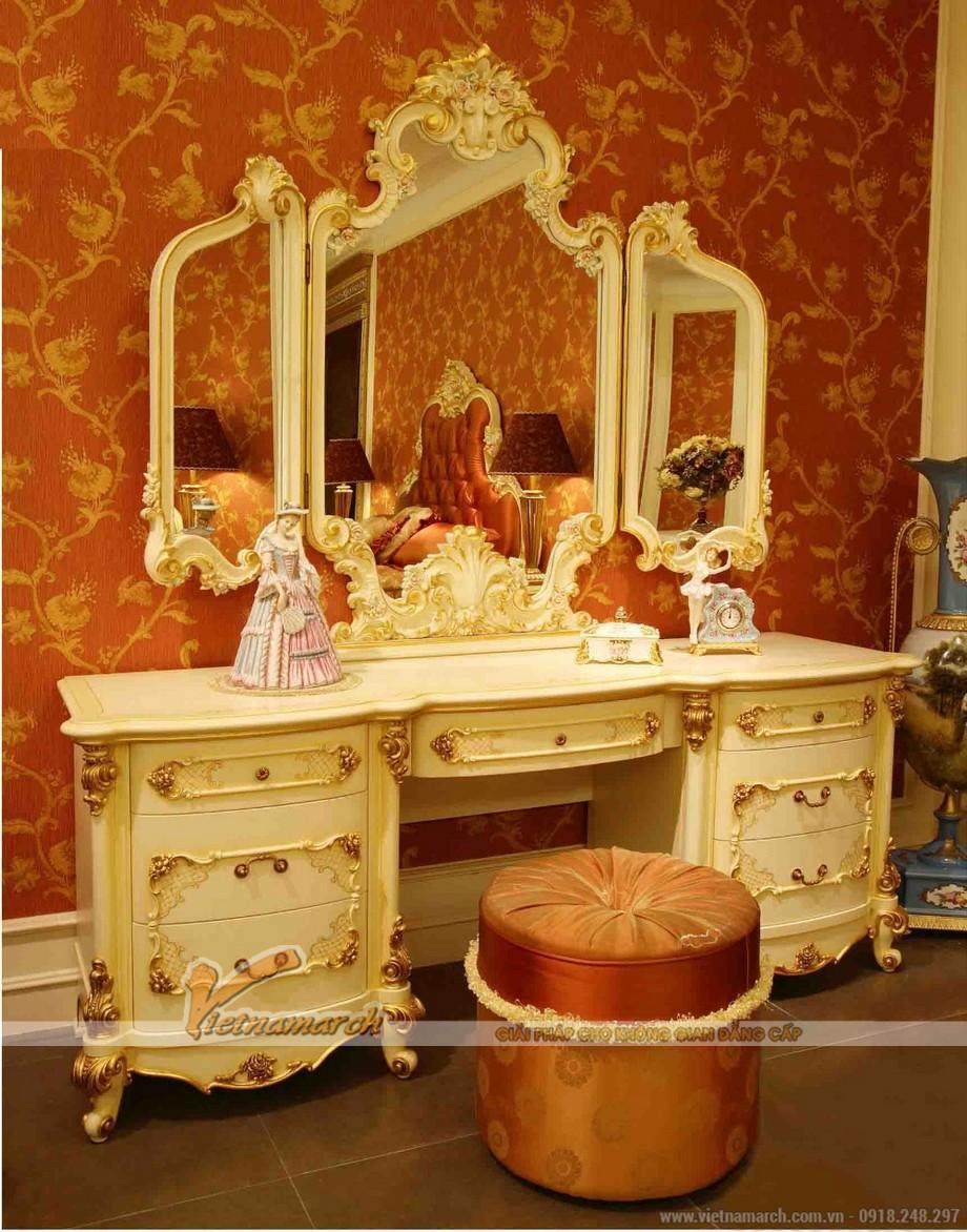 Ngây ngất với những mẫu bàn trang điểm phong cách hoàng gia châu Âu sang trọng