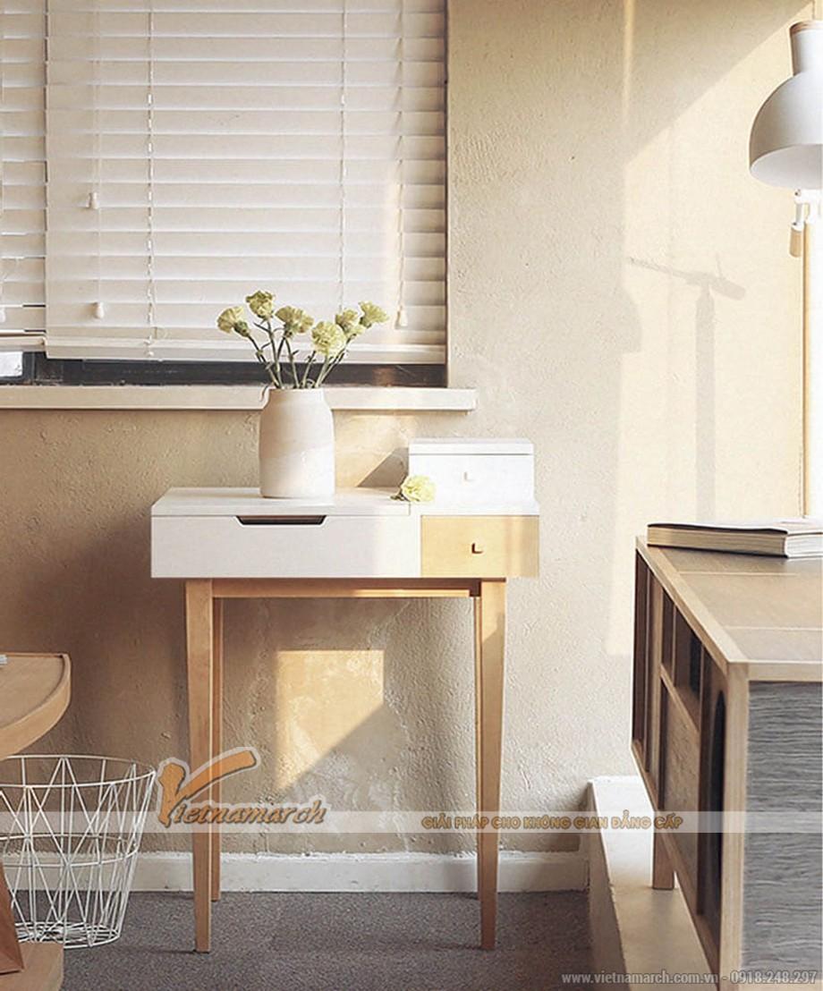 Tiết kiệm không gian với những mẫu bàn trang điểm thông minh cực xinh