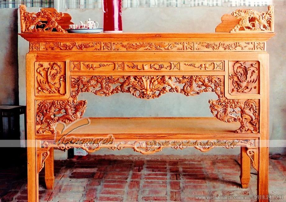 Một số lưu ý khi chọn lựa gỗ cho những mẫu bàn thờ truyền thống hợp phong thủy