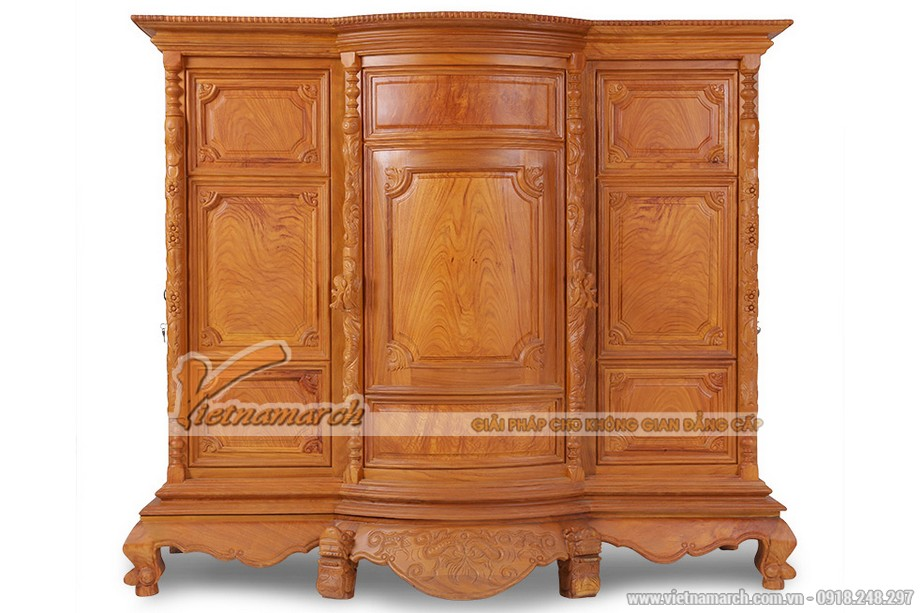 Mẫu nội thất phòng thờ đẹp gỗ hương cho chung cư