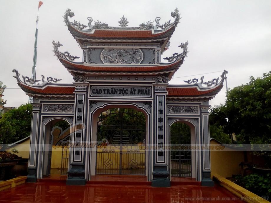 Mẫu cổng tam quan - nhà thờ họ đẹp