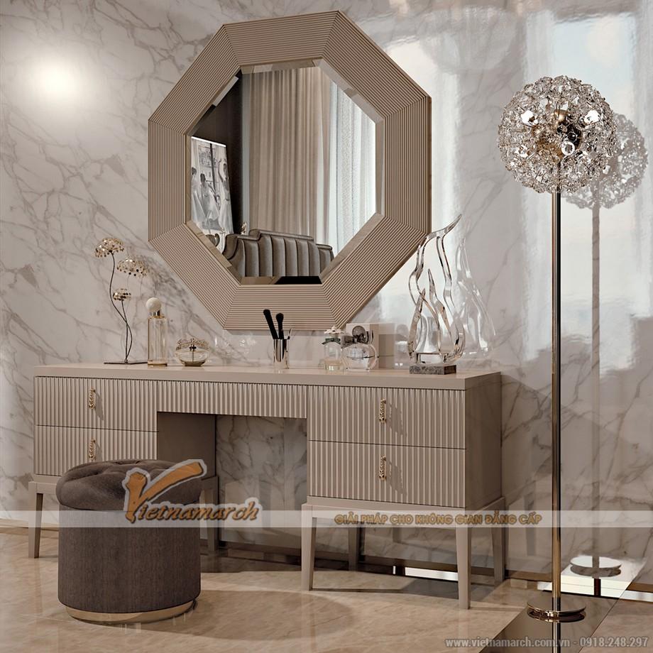 Không gian phòng ngủ sang trọng với những mẫu bàn trang điểm cao cấp