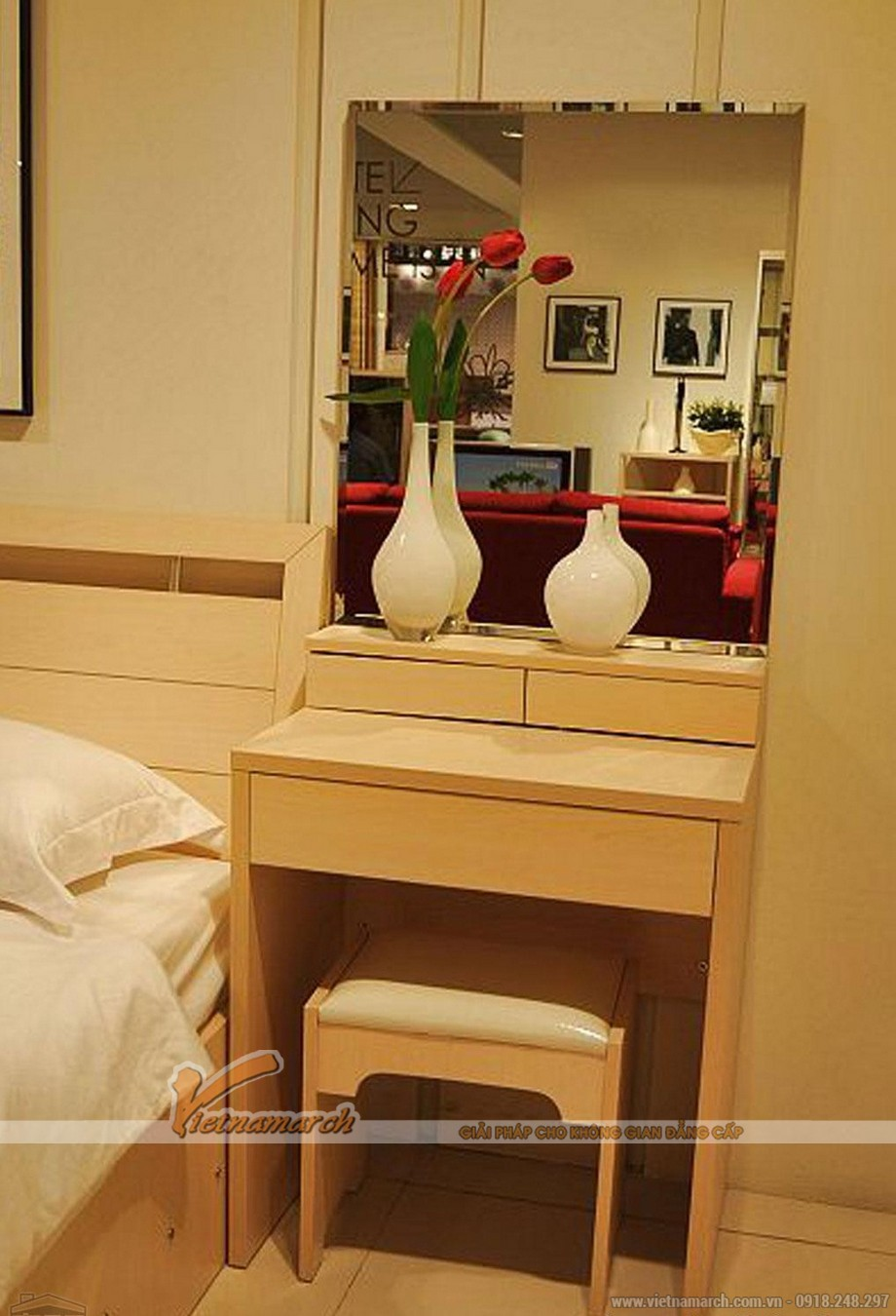 Quy tắc cần biết khi lựa chọn bàn trang điểm cho phòng ngủ đẹp