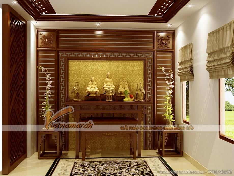 Thiết kế nội thất phòng thờ đậm chất tâm linh