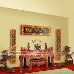 Thiết kế phòng thờ trang trọng, tâm linh với bàn thờ truyền thống