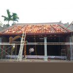Thi công nhà từ đường bằng gỗ với chi phí 720 triệu tại Hưng Yên