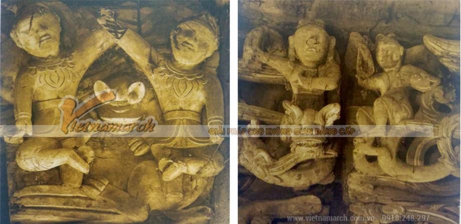 Hình tượng tiên cưỡi mây được kiến trúc sư Vietnamarch phục dựng và đưa vào đền trì.