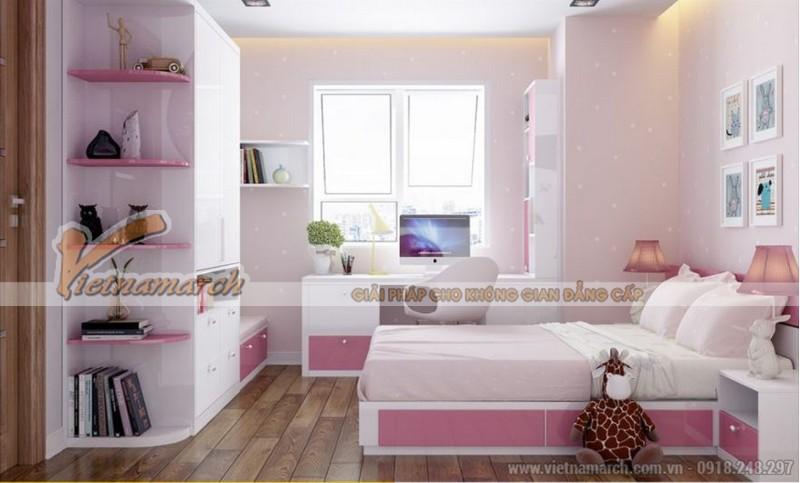 Phối cảnh nội thất phòng ngủ con căn hộ Park 11 Park Hill