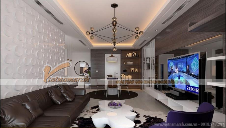 Thiết kế phòng khách ấn tượng à sang trọng trong căn hộ Park Hill Times City